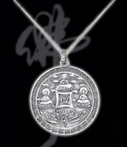 The Three Buddhas Medallion