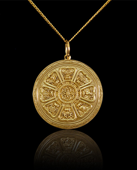 The circle of eight buddha pendant welcome to the world of bethea circle of 8 buddha pendant mozeypictures Images